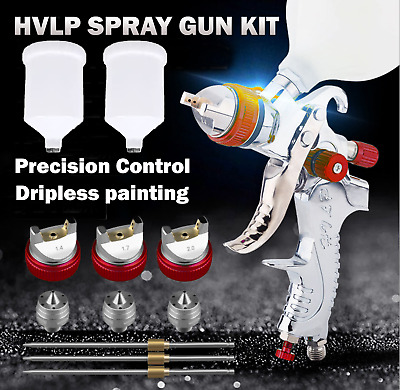 AU56 • Buy Spray Gun Paint Gun Gravity Feed HVLP 3 Nozzle 1.4mm 1.7mm 2mm Tips Included