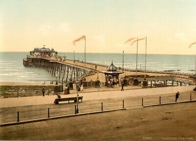 £6.99 • Buy The Pier, Hastings, Sussex, 1890's, Vintage English Photography Poster