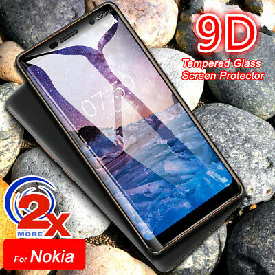 AU4.99 • Buy 2x 9H Tempered Glass Screen Protector For Nokia 1 Plus/2.2/3.2/4.2/5.1/6.1/7.2