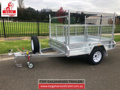 AU2740 • Buy 7x5 Box Trailer Single Axle With Brake ATM 1400Kg New Light Truck Tyers 900mm Ca