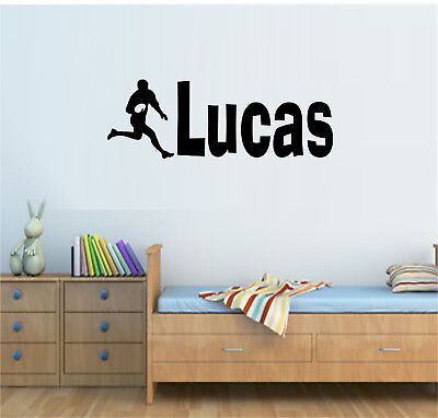 £7.99 • Buy Personalised Name Rugby Player Vinyl Wall Art Sticker Decal Boys Bedroom Decor