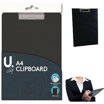 A4 Clipboard Board Folding Cover Work Writing Office Document Holder Pad Set New • 2.29£