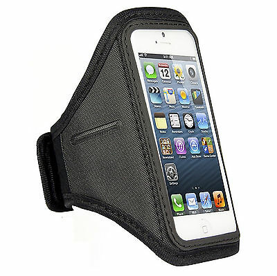 SPORTS RUNNING JOGGING GYM ARMBAND ARM BAND CASE COVER HOLDER FOR IPHONE 5 / 5S • 1.99£