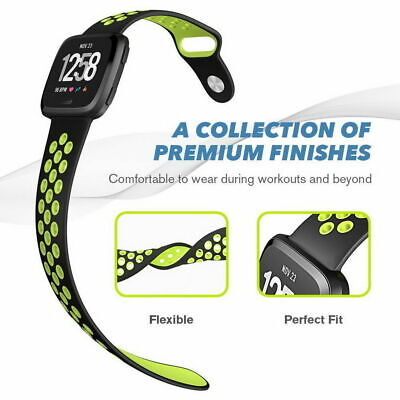 $ CDN6.58 • Buy Sport Bands Small Large Soft Fitness Silicone Strap Replacement For Fitbit Versa