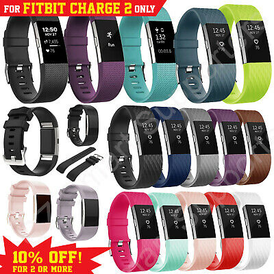 AU5.95 • Buy Fitbit Charge 2 Bands Replacement Silicone Wristband Sports Watch Strap Bracelet