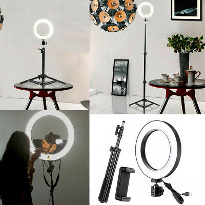 AU58.99 • Buy 10  LED Ring Light Dimmable Video Selfie For Youtube Live & Phone Holder Tripod