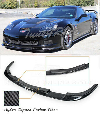 $269.99 • Buy HYDRO CARBON FIBER ZR1 Style Front Bumper Lip Splitter For 05-13 Corvette C6 Z06