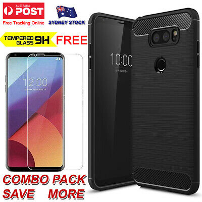 AU6.29 • Buy For LG V30 V30+ Plus & V40 ThinQ Heavy Duty Anti Fingerprint Bumper Tough Case