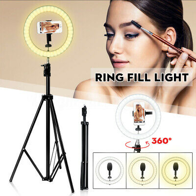 AU34.99 • Buy 10'' Dimmable LED Ring Light Tripod Stand Makeup Selfie Video Photo For Youtube