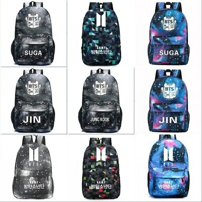 $19.79 • Buy Bangtan Boys BTS SUGA JIN JUNG KOOK Backpack Shoulder Bag Unisex School Bookbag