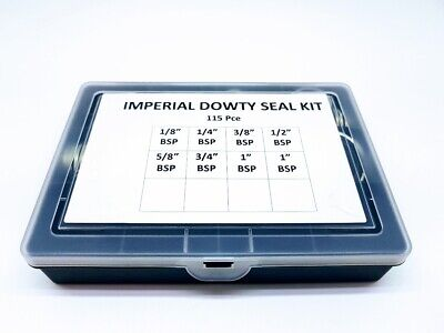 £30.06 • Buy 115 Pce IMPERIAL BSP DOWTY BONDED SEAL/WASHER KIT SELF CENTERING 1/8 To 1  BSP