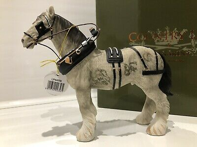 Leonardo Grey White Silver Shire Clydesdale Horse Gift Figurine Ornament Figure • 14.99£