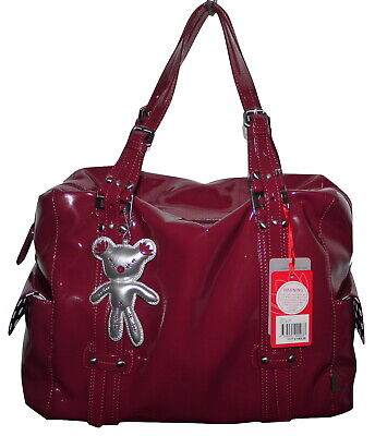 Il Tutto Nico Berry Patent PVC Baby Change Bag + Accessories NWT SP £149 • 55£