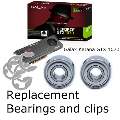 AU15.99 • Buy For Galax GTX 1070 Katana | Fan Repair Kit | Replacement Bearings And Clips