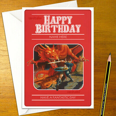 DUNGEONS & DRAGONS Personalised Birthday Card - Personalized Role Playing Table • 3.49£