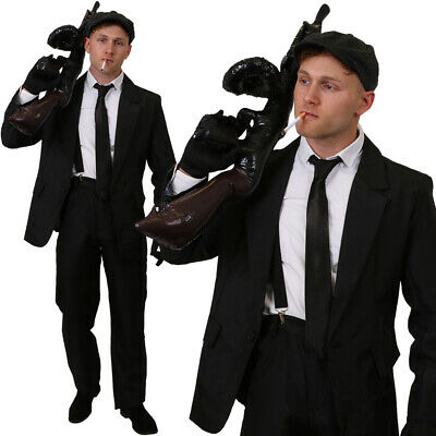 British Gangster Costume Mens Tv Film Fancy Dress Outfit 1920s Stag Do • 36.99£
