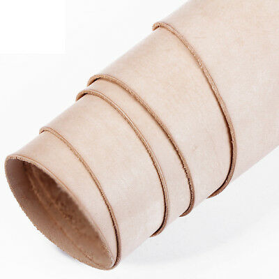 Veg Tanned Leather Natural Hide - Tooling Or Craft - Various Thickness & Sizes • 7.40£