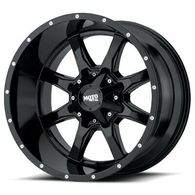 $876 • Buy 20 Inch All Black Wheels Rims LIFTED Ford Truck F250 F350 Moto Metal MO970 Set 4