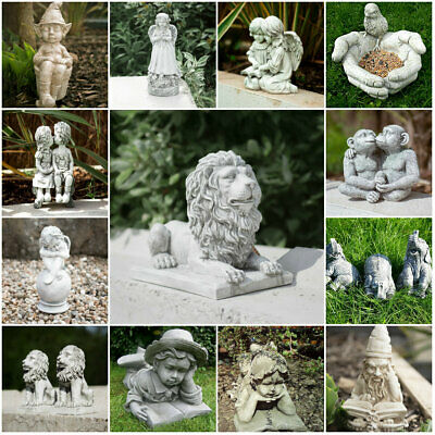 £12.99 • Buy Stone Effect Garden Ornaments Outdoor Decor Unique Statue Sculpture Patio Angel