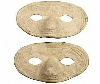 6 Paper Mache Carnival Style Craft Masks For Kids To Decorate • 5.80£