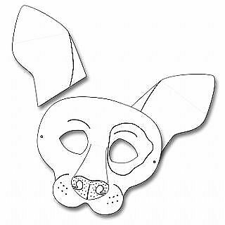 6 Dog Colour In And Decorate Card Masks To Decorate For Crafts • 6.25£