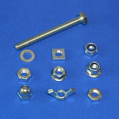 £7.16 • Buy M5 SET SCREWS FULL THREAD BOLTS WITH NUTS AND WASHERS  M5 BZP BOLT 5mm Diameter