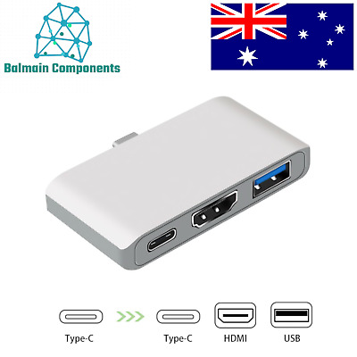 AU39.90 • Buy USB Type C 3.1 Hub Adapter Dock 4K HDMI PD Charge For MacBook Air Pro 2019 USBC