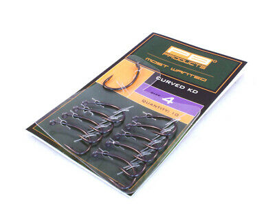 PB Products Curved KD Hook DBF *All Sizes* NEW Carp Fishing Barbed Hooks • 5.69£
