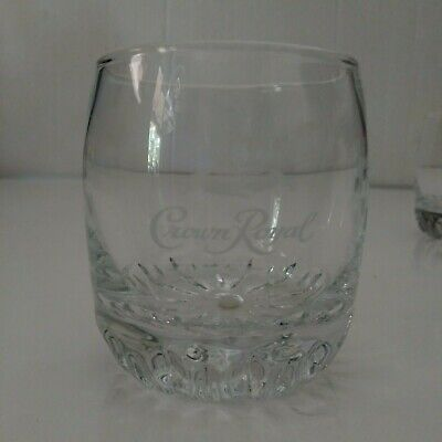 CROWN ROYAL ETCHED GLASSES Set Of 5 Crown And Pillow Made In Turkey • 29.95$