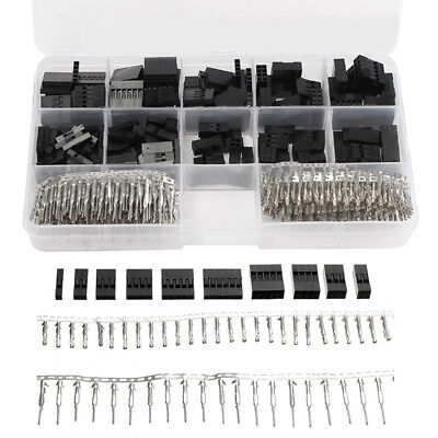 AU10.93 • Buy 620PCS 2.54mm Dupont Crimp Pin Connector Header Jumper Wire Terminal Housing Kit