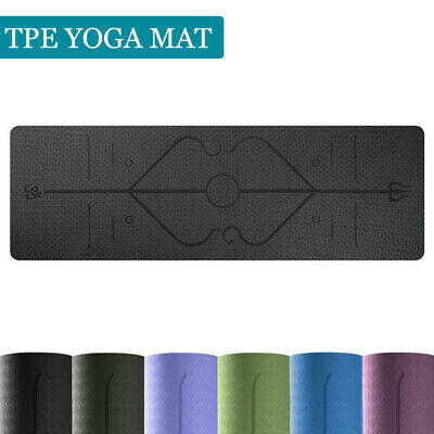 AU26.99 • Buy Premium TPE Yoga Mat Pad Eco Friendly Exercise Fitness Gym Pilates Non Slip 8mm