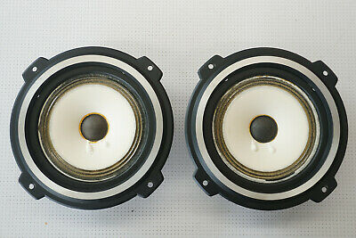 AU40 • Buy Pair Of AL Foster 6  8 Ohm Mid Range Speaker Drivers White Vintage C100M07A9060