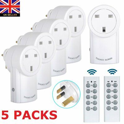 £25.99 • Buy Remote Control Sockets Wireless Switch Home Mains UK Plug AC Power Outlet 5 Pack