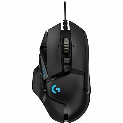 AU95.50 • Buy Logitech Optical  G502 Hero LED Backlight 16000 DPI Wired USB Gaming Mouse Black