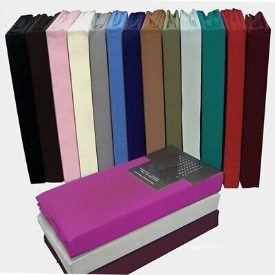 100% Egyptian Cotton Fitted Sheet 200TC Single 4FT Small Double King Super King • 9.99£