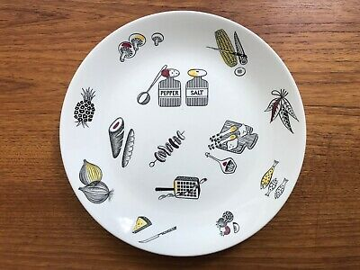 Ridgway Barbecue Pattern Dinner Plate By Margaret Simpson 1950s • 18£