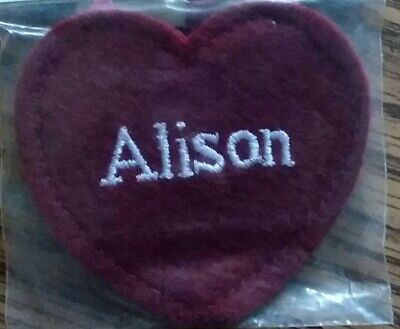 $ CDN2 • Buy ALISON, Ganz Personalized Red Hearts, Embroidered Names Felt My Very Own Angel