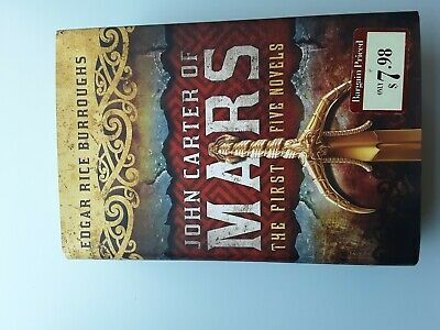 John Carter Of Mars 1st Five Novels By Edgar Burroughs New Hardcover Edition • 13.99$