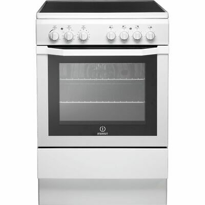 £296 • Buy Indesit I6VV2AW Free Standing A Electric Cooker With Ceramic Hob 60cm White New