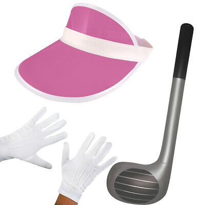 Pub Golf Visor Hat White Gloves Inflatable Club Stag Hen Fancy Dress Costume Lot • 9.99£