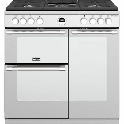 £1458 • Buy Stoves Sterling S900G 90cm 5 Burners A/A Gas Range Cooker Stainless Steel New
