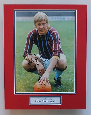 ALAN BIRCHENALL In Crystal Palace Shirt HAND SIGNED Autograph Photo Mount COA • 34.95£