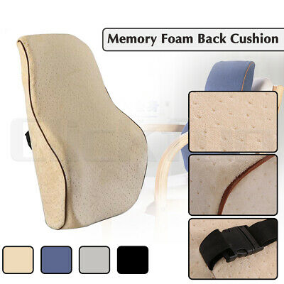 AU20.95 • Buy Lumbar Back Pillow Cushion Memory Foam Chair Support Home Car Office Relax Seat