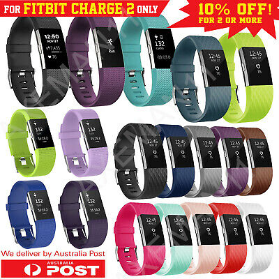 AU5.95 • Buy Fitbit Charge 2 Band Small Large Replacement Silicone Wristband Watch Strap AUS
