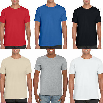 Plain Mens T Shirt Gildan 100% Soft Cotton T Shirt Quick Dispatch Upto 4XL • 4.99£