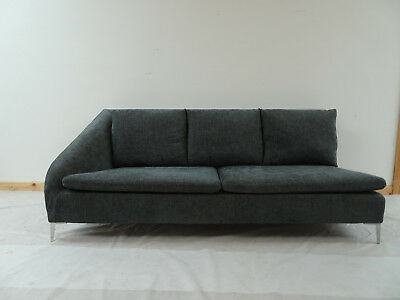 £1710 • Buy Impeccable Ligne Roset Chaise/ Open Ended Sofa In Soft Herringbone Fabric