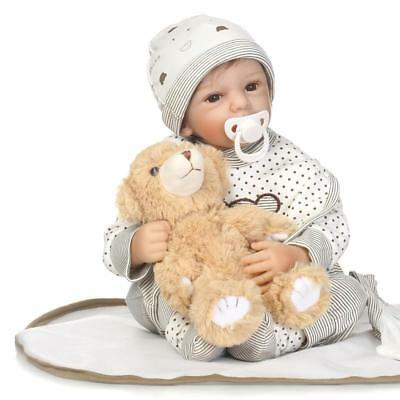 $ CDN58.07 • Buy Reborn Doll Baby Realistic 20'' Newborn Dolls Cloth Body Vinyl Silicone Gift Toy
