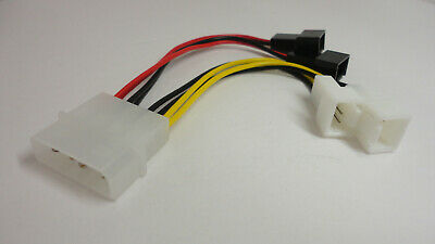 $6.75 • Buy 4 Pin Molex To 3 Pin Fan Power Supply Adapter Cable Computer Case Splitter Wire