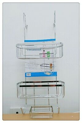 AU26.99 • Buy 3 Tier Chrome Shower Caddy Organizer Storage Rack Bath Shelf Shelves Storage Rac