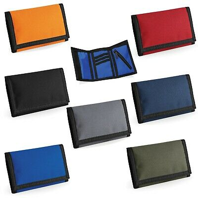 £4.99 • Buy Mens Wallets With Coin Pocket With Zip Slim Trifold Black, Red, Orange Blue